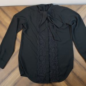 Mossimo Chiffon and Lace Button Up